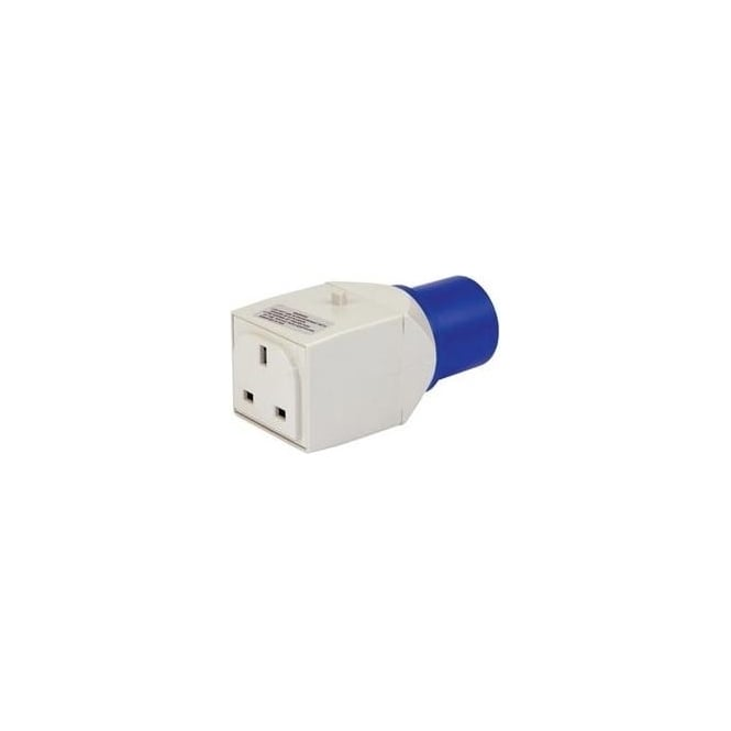 230V 16A To 13A Moulded Adaptor