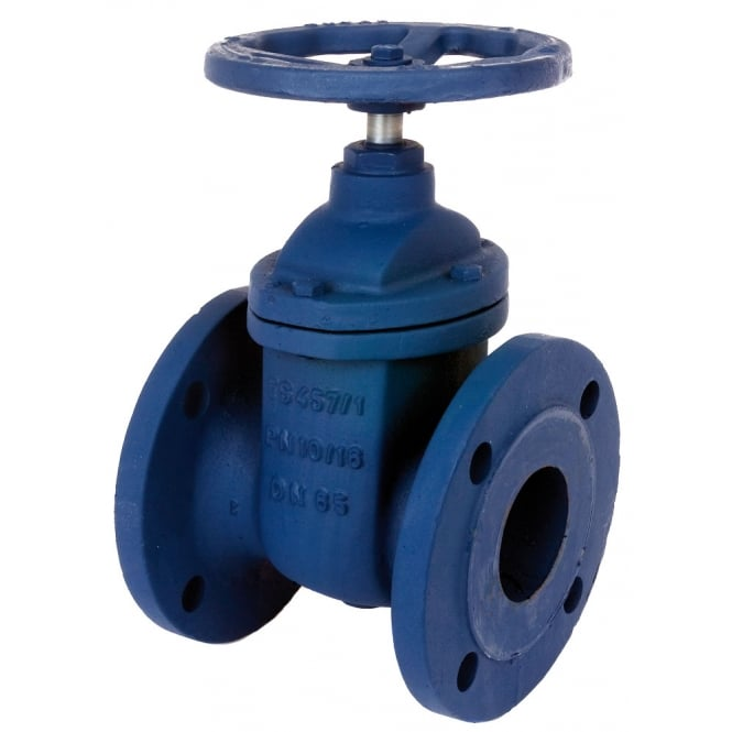Albion art cast iron pn flanged gate valve to bs