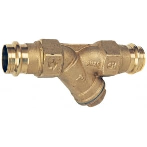 ART198PRS DZR Brass Y Type Strainer (M Press Fit Ends)