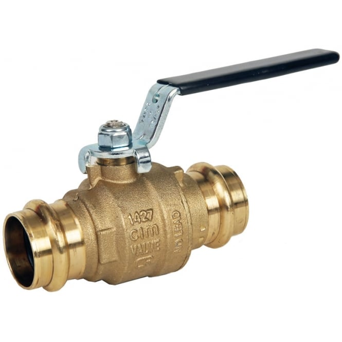 Albion ART55PRS LFBK DZR Black Handle Ball Valve (M & V Press Fit Ends)