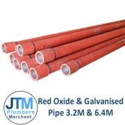 Red Oxide & Galvanised Pipe 3.2mts