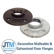 Decorative Malleable & Galvanised Floor Flanges