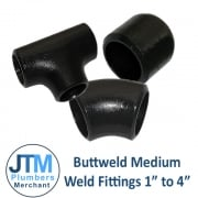 "Buttweld Medium Weld Fittings 1"" to 4"""