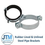 Rubber Lined & Unlined Steel Pipe Brackets
