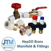 Hep²o Brass Manifold and fittings