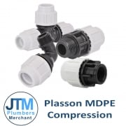 Plasson MDPE Compressio Fittings