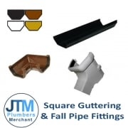 Square Guttering & Fall Pipe Fittings