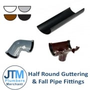 Half Round Guttering & Fall Pipe Fittings