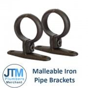 "Malleable Pipe Brackets (1/2"" to 4"")"