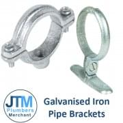 "Galvanised Pipe Brackets (1/2"" to 4"")"