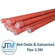 "Red Oxide Pipe 3.2mts (1/2"" to 6"")"