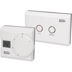 ESI Digital LCD Display Thermostatic Room Stat RF