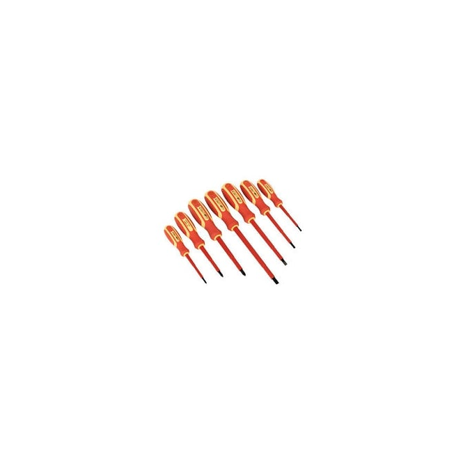 F M Products Hand Tools VDE Screwdriver 7 Piece Set