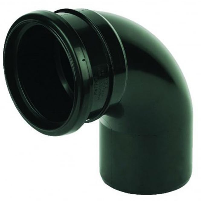 Floplast 110mm Soil 92.5° Socket/Spigot Bend SP161