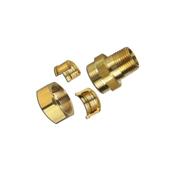Gastite straight fitting assembly brass male bspt pipe