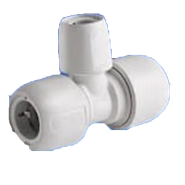 Hep o polybutylene branched tee reduced ° pipe