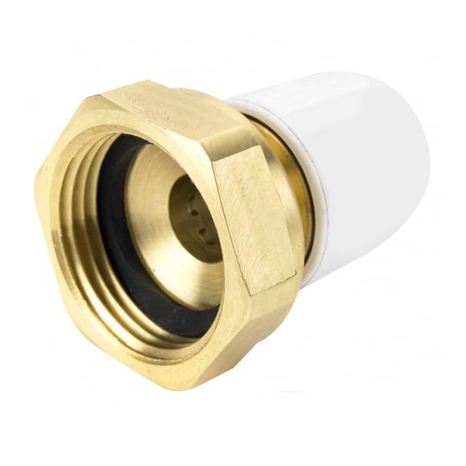 "Hep2o UFH 1"" x 15mm female brass adaptor"