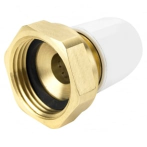 "Hep2o UFH 1"" x 15mm female brass adaptor"