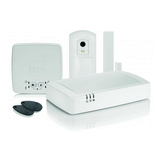 honeywell connected wireless home alarm kit 2 hs912s. Black Bedroom Furniture Sets. Home Design Ideas