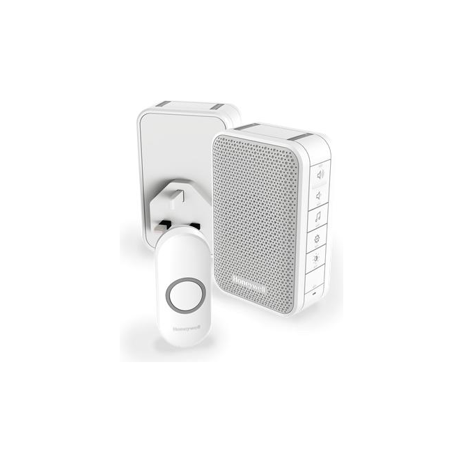Honeywell (DC313NHGBS) Series 3 Wireless Portable Doorbell With Volume Control & Two Push Button White