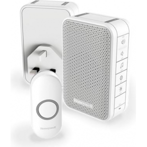 (DC313NHGBS) Series 3 Wireless Portable Doorbell With Volume Control & Two Push Button White