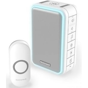 (DC315N) Series 3 Wireless Portable Doorbell With Halo Light & Push Button White