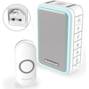 (DC315NBS) Series 3 Wireless Plug In  Doorbell With Halo Light USB Charging & Push Button White