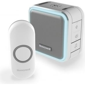 (DC515N) Wireless Portable Doorbell With Halo Light, Sleep Mode & Push Button White
