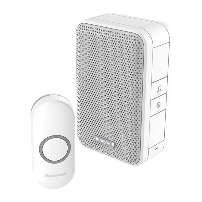 Honeywell Series 3 Wireless Portable Doorbell With Volume Control & Push Button White DC313N