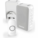 Series 3 Wireless Portable Doorbell With Volume Control & Two Push Button White DC313NHGBS