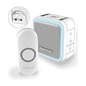 Series 5 Wireless Plug In Doorbell With Sleep Mode, Nightlight And Push Button White