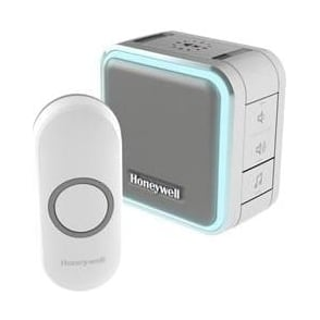 Series 5 Wireless Portable Doorbell With Halo Light, Sleep Mode & Landscape Push Button White DC515S