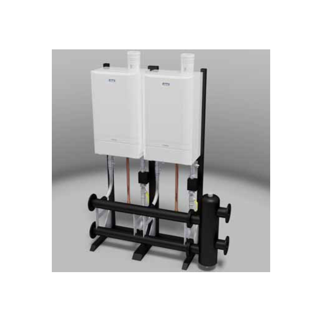 Ideal Commercial Evomax Cascade and Header Kits Back To Back 120 ...