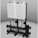 Ideal Commercial Evomax Cascade and Header Kits Back To Back 120-150Kw