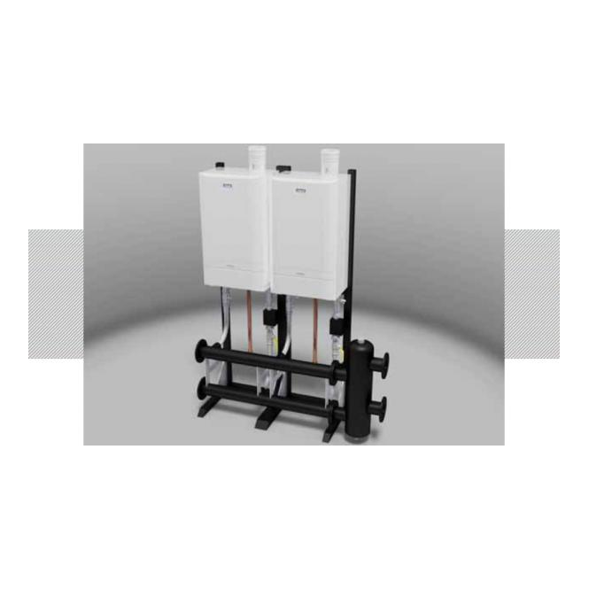 Ideal Commercial Evomax Frame & Header Kit (Boilers Not Included)