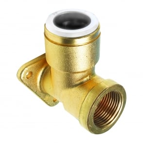 Brass Back Plate Elbow
