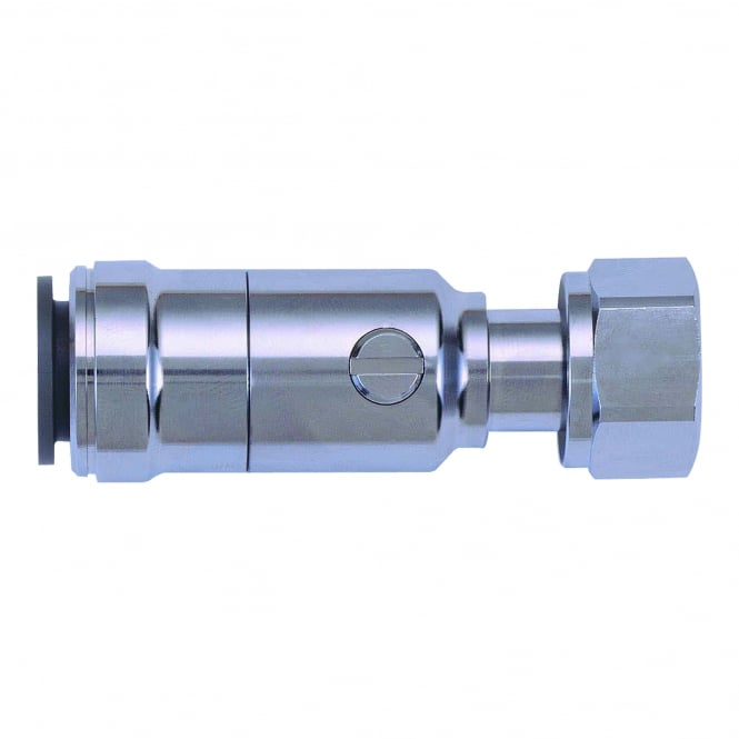 John Guest Speedfit Chrome Plated Service Valve Tap Connector