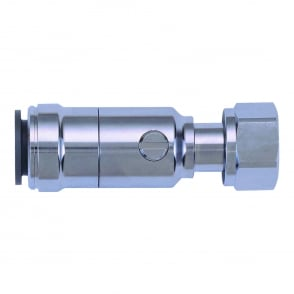 Chrome Plated Service Valve Tap Connector