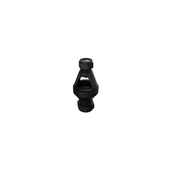 JTM 22*28mm Straight Tundish Black Plastic