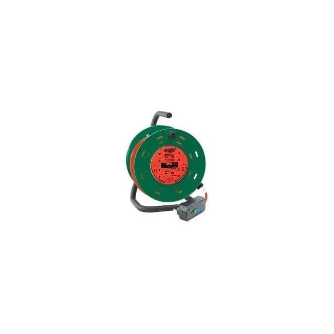 JTM 230V Four Socket Garden Cable Reel With RCD Adaptor 25m