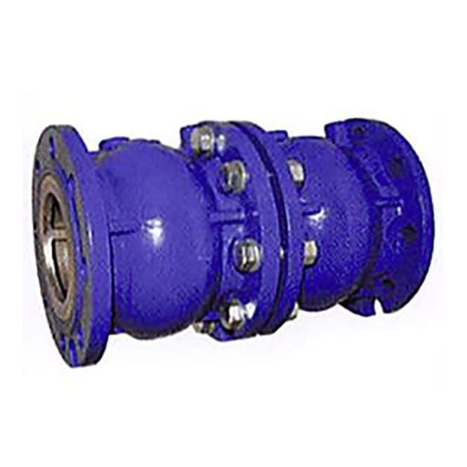 JTM Axial Disc Double Check Valve EPDM Seat Epoxy Coated (Flanged - PN16) (Temp -10°C - 120°C)