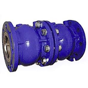 Axial Disc Double Check Valve EPDM Seat Epoxy Coated (Flanged - PN16) (Temp -10°C - 120°C)