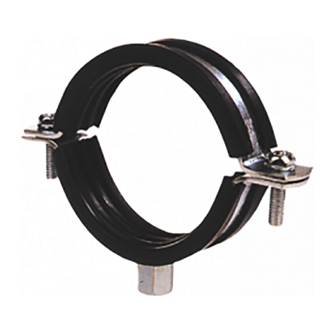 Jtm bracketry rubber lined steel pipe clip clamp