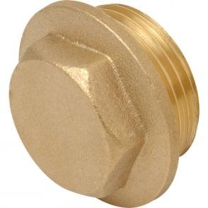 Brass flanged plug