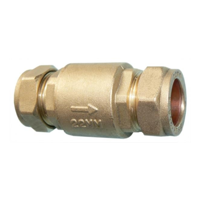 JTM Brass Full Flow Spring Check Valve