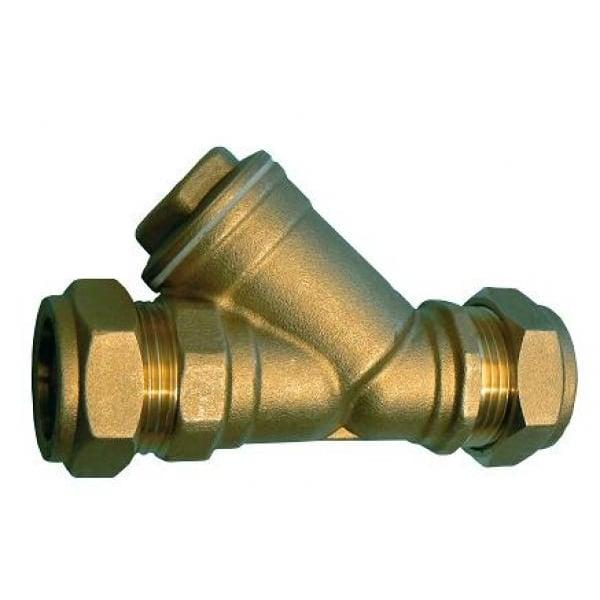 Jtm compression valves brass y strainer pipe fittings