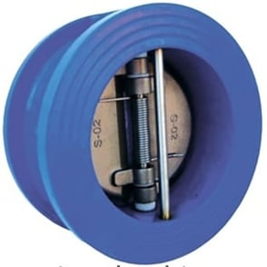 Dual Plate Check Valve to Suit PN16 Epoxy Coated Cast Iron Body - Epoxy Coated Stainless Steel Plates EPDM