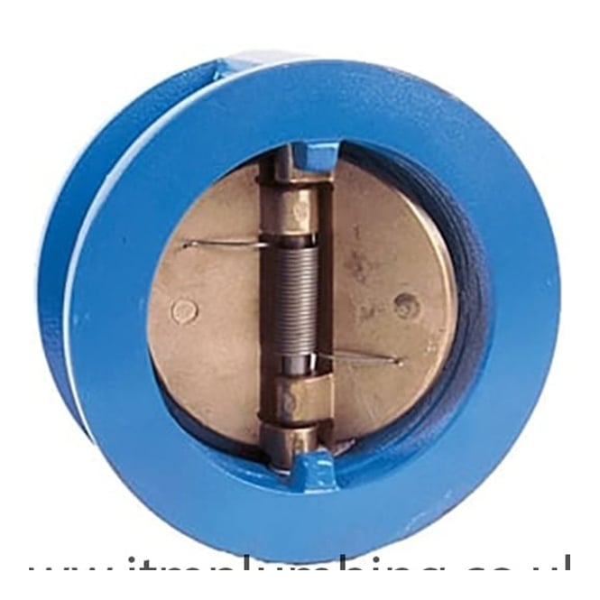 JTM Dual Plate Check Valve to Suit PN16 Epoxy Coated Ductile Iron - Epoxy Coated Carbon Steel Plates NBR Seat