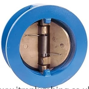 Dual Plate Check Valve to Suit PN16 Epoxy Coated Ductile Iron - Epoxy Coated Carbon Steel Plates NBR Seat