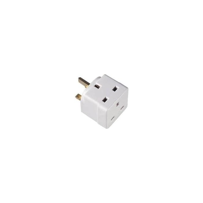 JTM Electrical 13A Mains Adaptor - 2 way